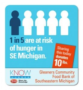 Tyson Foods is raising awareness about hunger in the U.S. by giving food to eight community food banks.