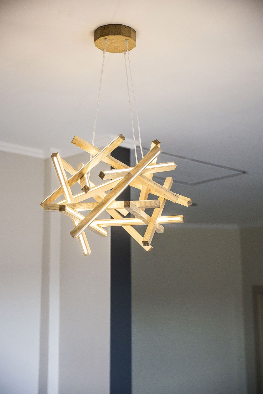 Wooden Chandelier-Loft LED lamp-dinning room chandelier-modern ...