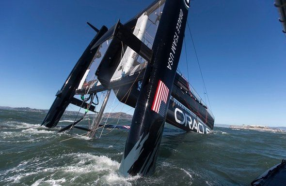 America's Cup Capsize: Oracle Catamaran Flips Over In San Francisco Bay (PHOTOS, VIDEO)
