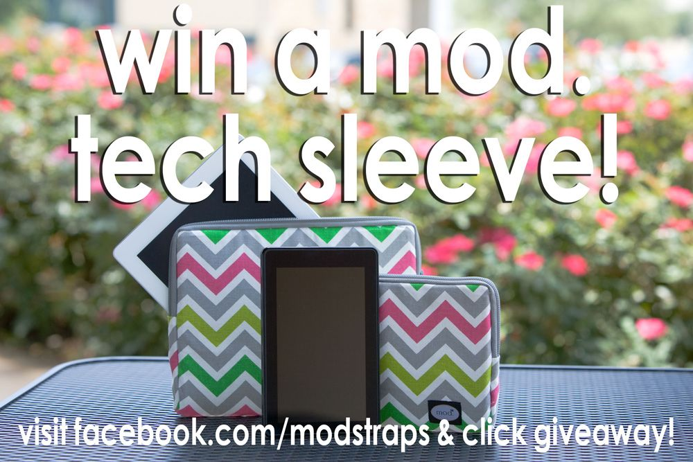 We're giving away 4 mod. tech sleeves...1 a week beginning Jan 15 and ending Feb 12. Pin & Share!!