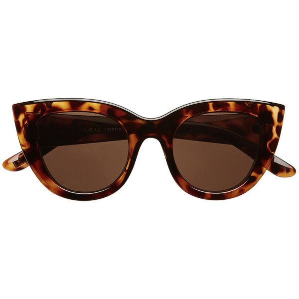 Witchery Luella Cat Eye Sunglasses (€47) ❤ liked on Polyvore featuring accessories, eyewear, sunglasses, glasses, sunnies, tortoise, cateye sunglasses, tortoise shell glasses, tortoiseshell cat eye glasses and tortoise shell cat eye sunglasses