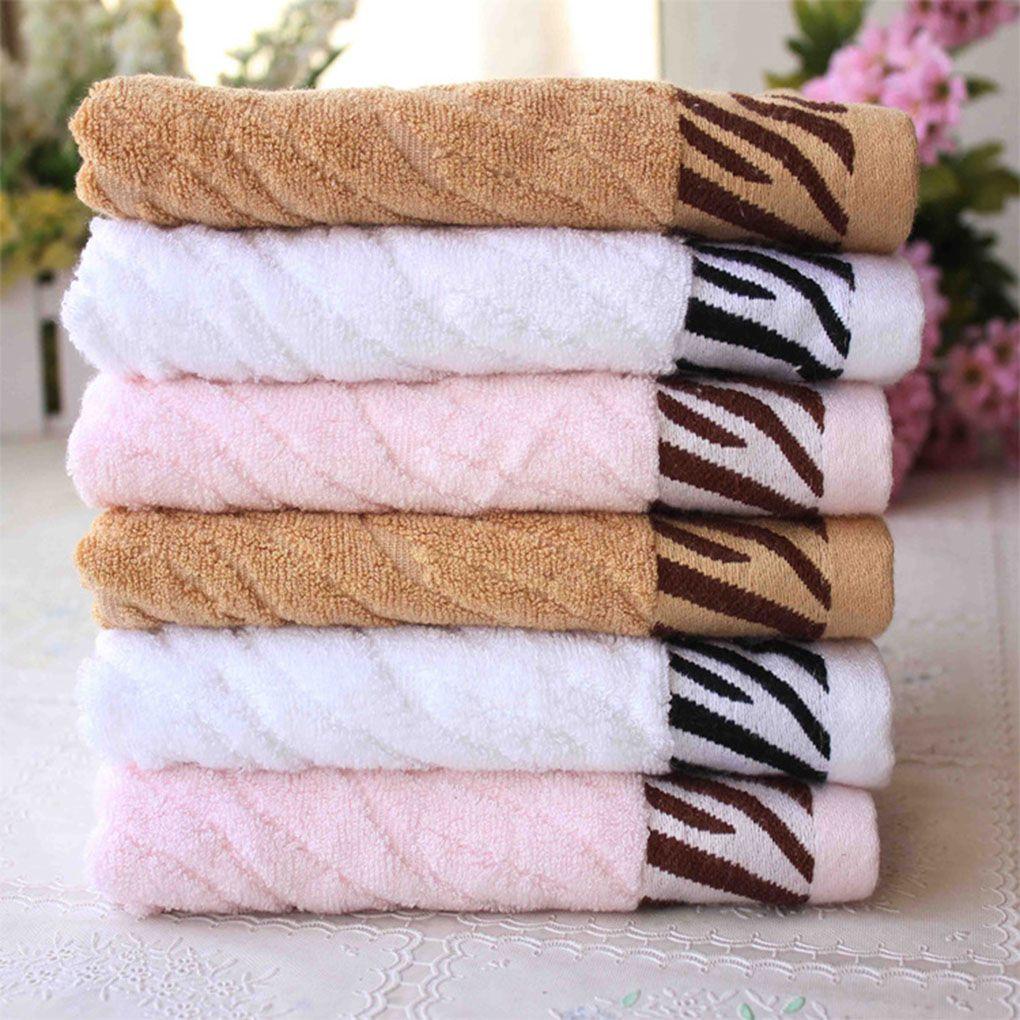 Useful tiger stripes bamboo fiber soft face towel water bath beach