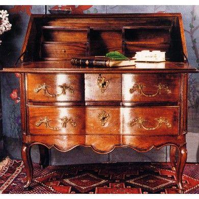 Bureau dos d\u0027âne Louis XV en noyer Mueble Antiguo Pinterest