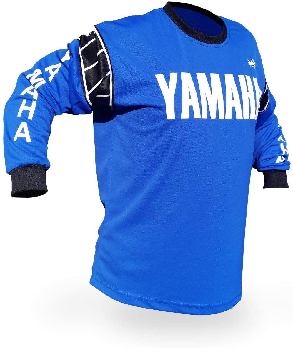 Amazon Com Reign Vmx Yamaha Vintage Style Blue Motocross Jersey Size X Large Automotive In 2020 Mx Jersey Vintage Motocross Yamaha