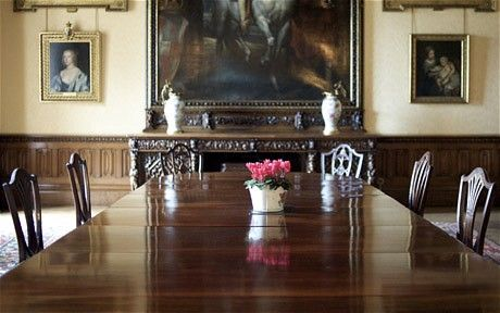 World Of Lady Carnarvon The Real Downton Duchess  Dining Room Fascinating Highclere Castle Dining Room Design Inspiration
