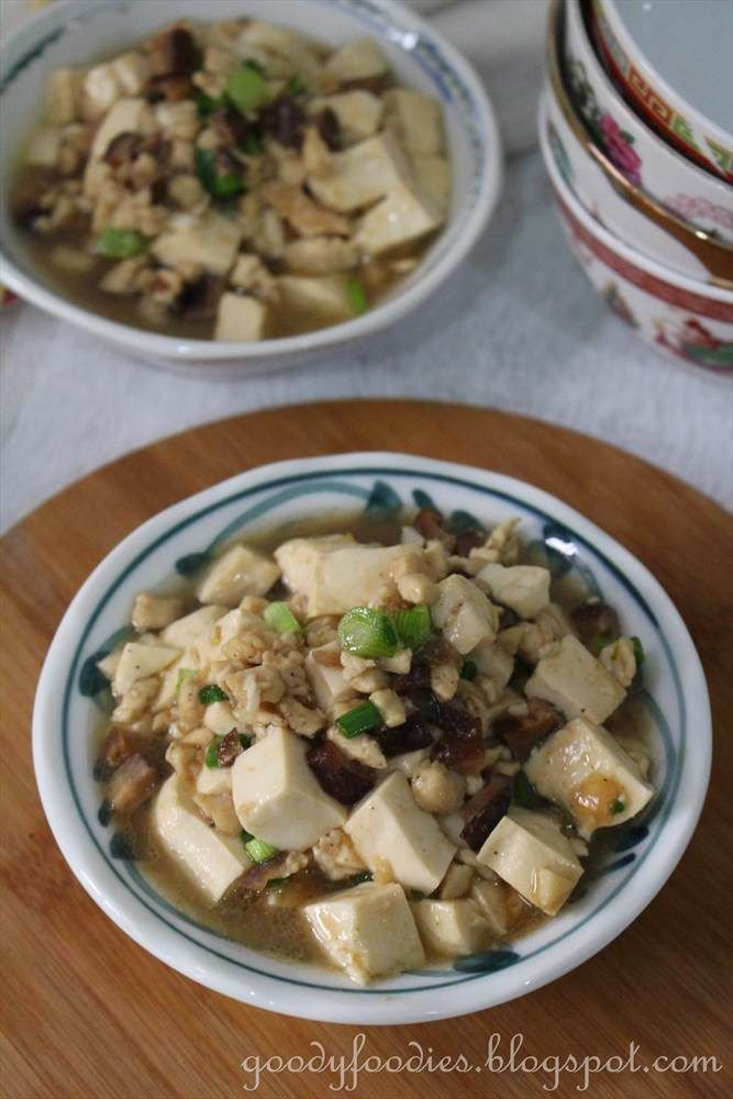 Goodyfoodies recipe tofu with minced chicken and chinese mushrooms food goodyfoodies recipe tofu with minced chicken forumfinder Gallery