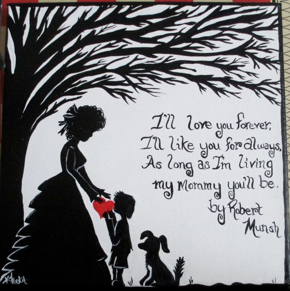 Mother And Son Hand Painted Canvas With Quote By OurBurrowDesign, $25.00