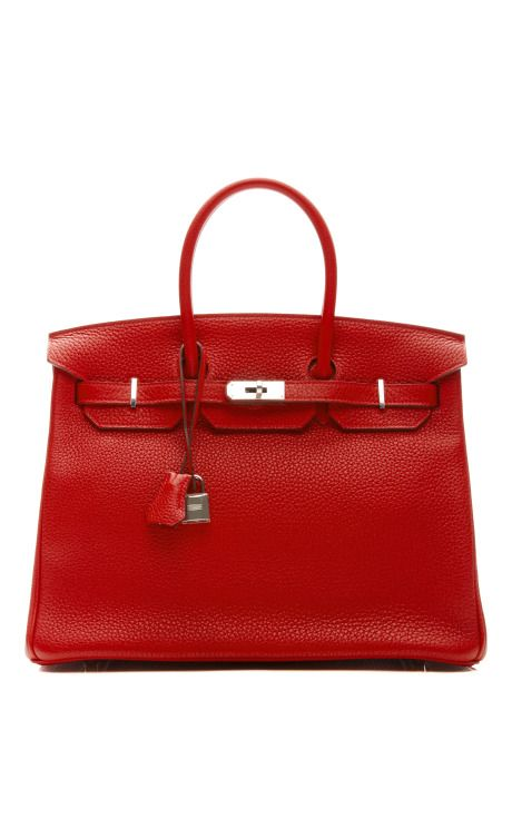 35Cm Rouge Casaque Clemence Leather Birkin