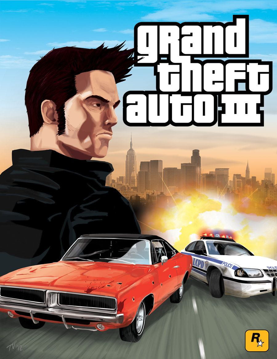 GTA 3 Movie Style Poster by Tom Velez   Entertainment   Gta