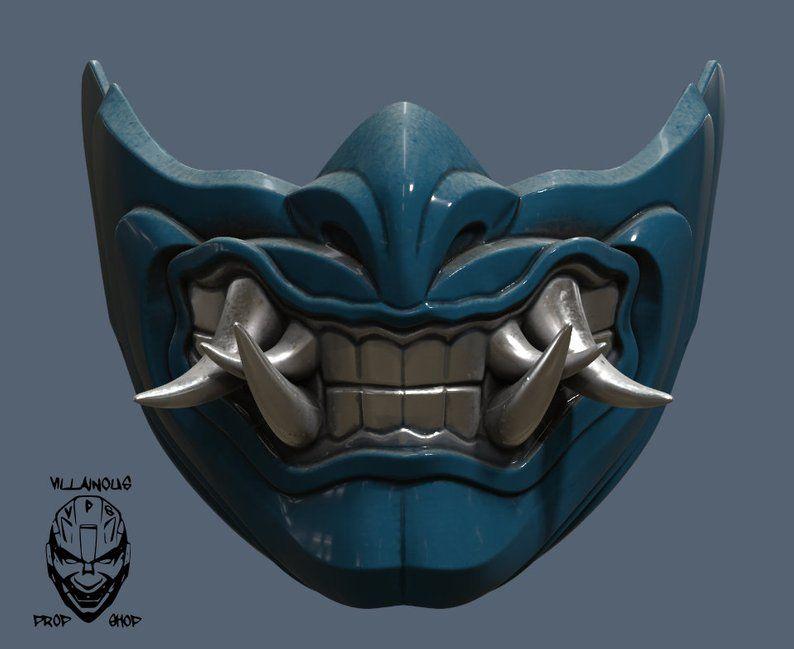 Mortal Kombat 11 Sub Zero Mask In 2021 Japanese Demon Mask Kitsune Mask Japanese Mask