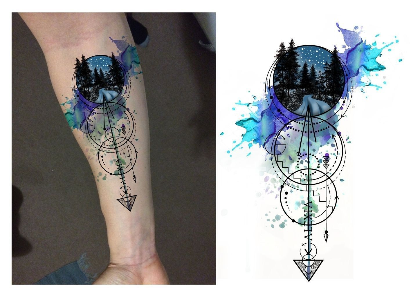 Cool Wolf Tattoo Design Ideas Suitable For You Who Loves Spirit Animal 15 Armtattoos Forearm Tattoo Design Tattoo Designs Geometric Tattoo