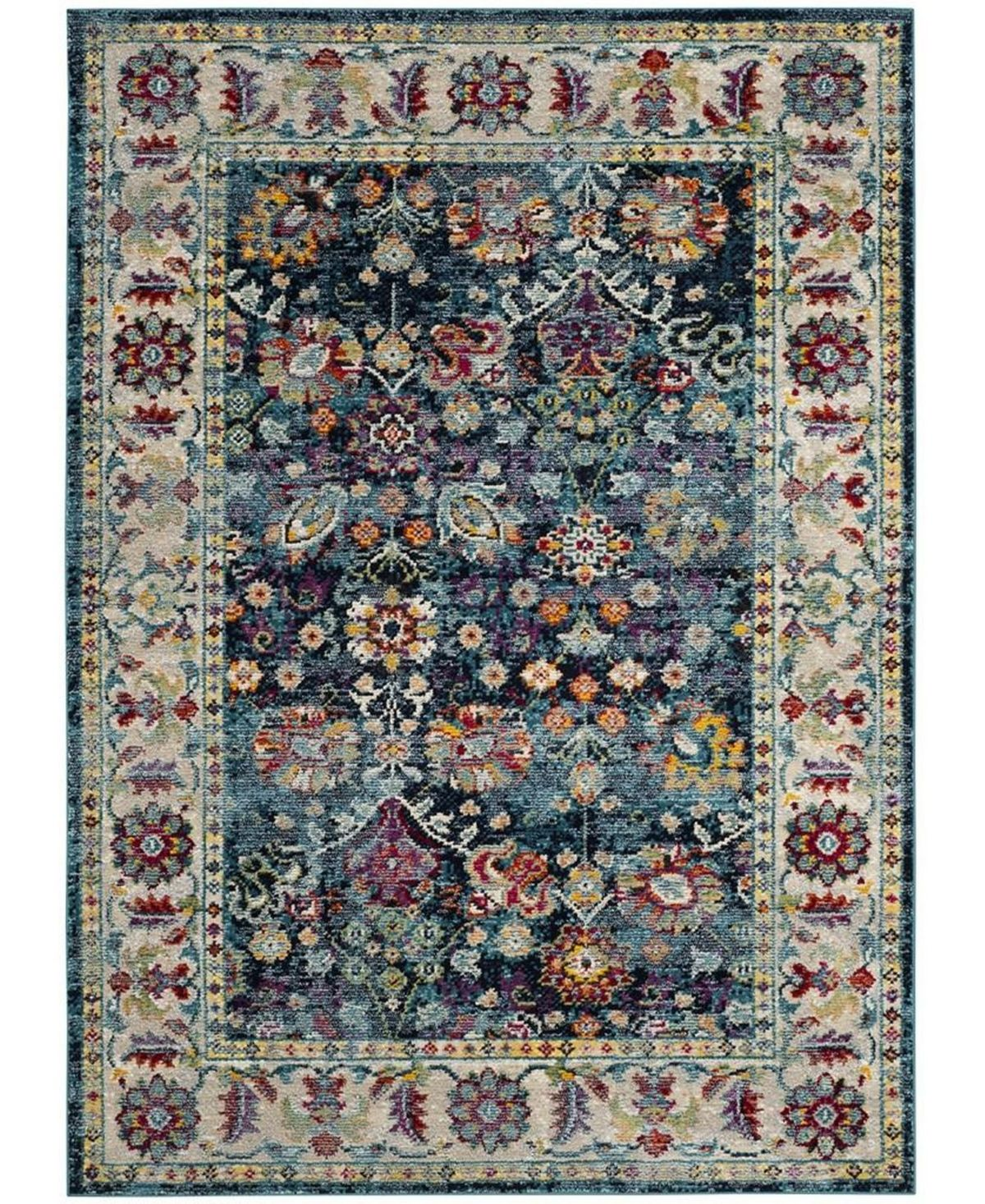 Savannah Navy And Blue 4 X 6 Area Rug Products In 2019 Navy