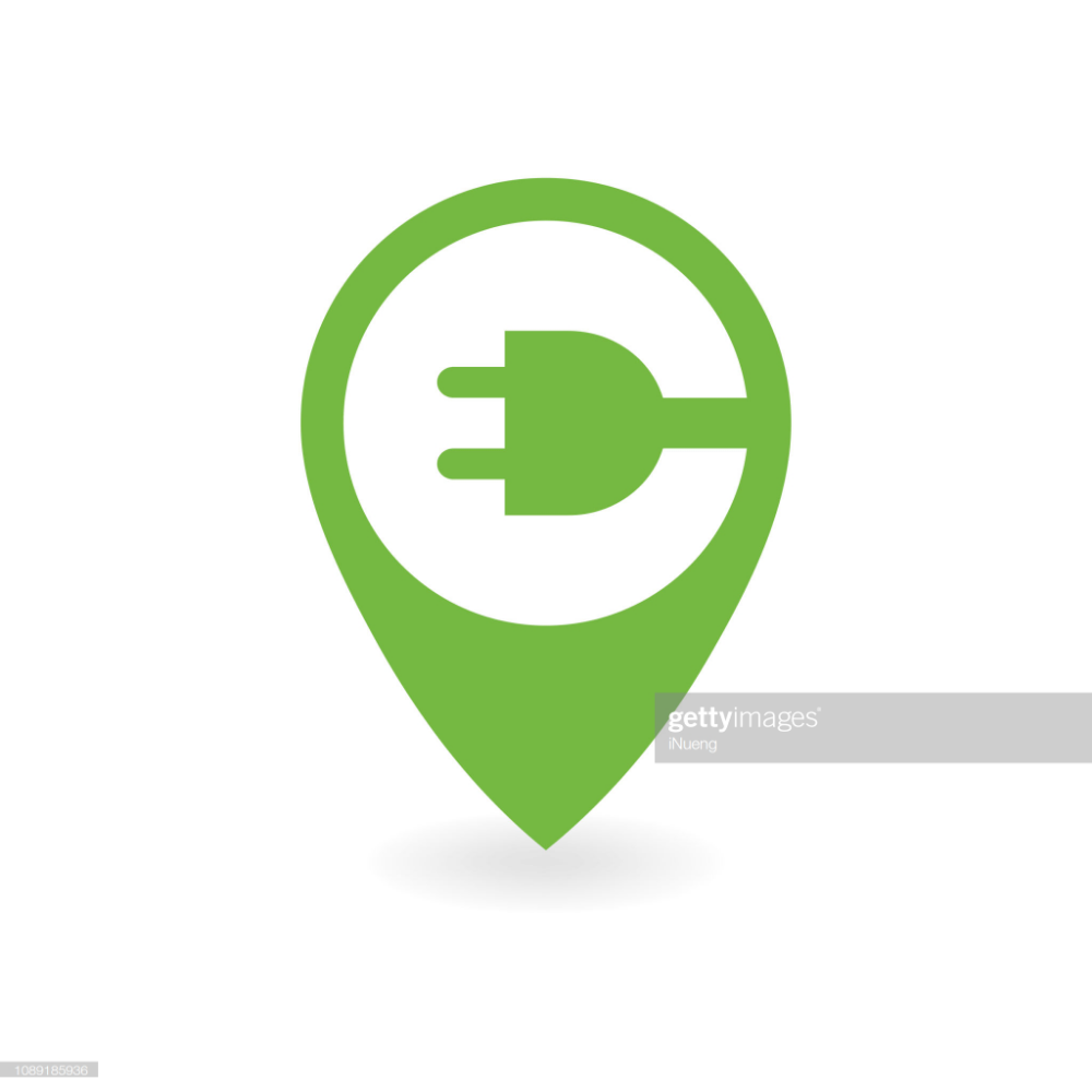 Electric Car Charge Station Map Pin Station Map Pin Map Electric Car [ 1000 x 1000 Pixel ]