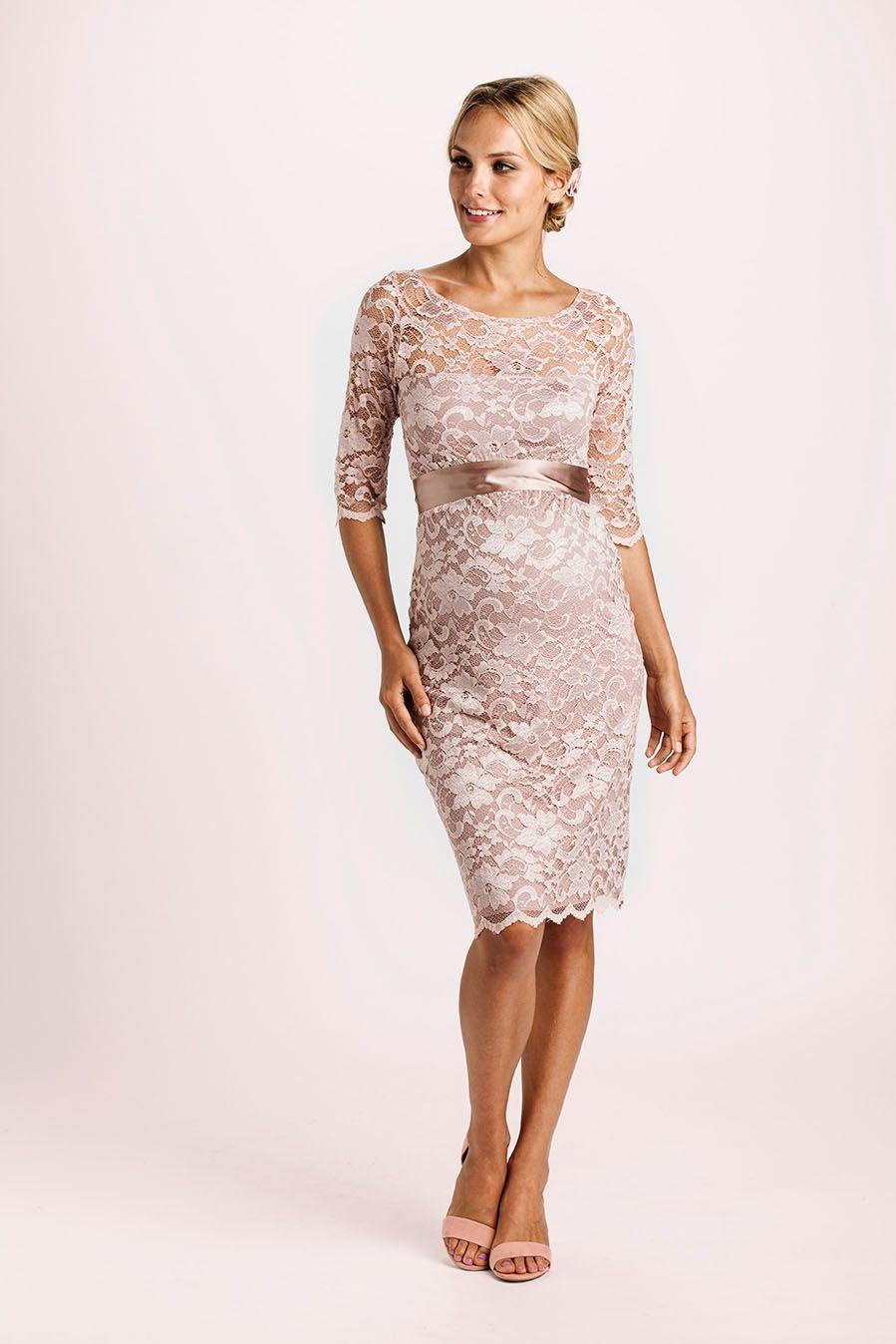 Spitzen Umstandskleid mit Schärpe rosé   Schöne kleider ...