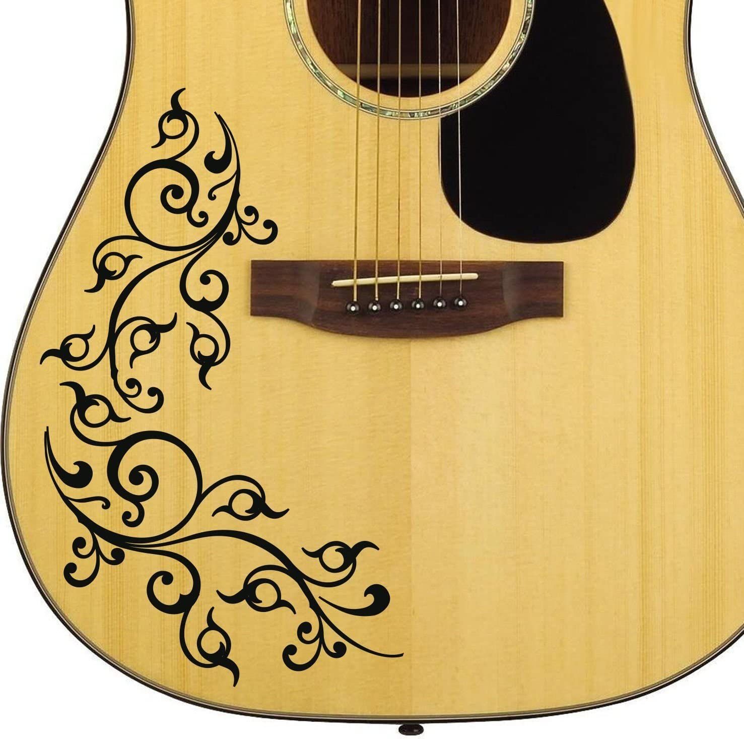 Acoustic Guitar Floral Swirl Decal Sticker For Guitar Amazon Co Uk Musical Instruments Guitar Stickers Guitar Design Guitar Drawing
