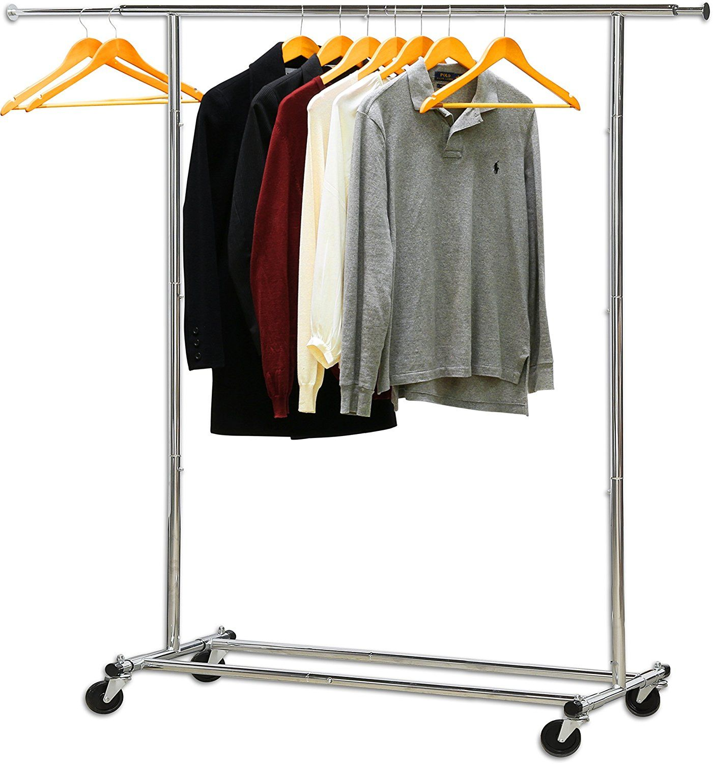 Hang Backdrops Flags Reflectors Heavy Duty Clothing Garment Rack Rod Extendable 35ft To 55ft Height 5ft Collapsible Steel