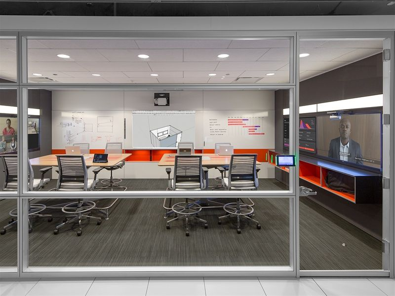 Steelcase Showroom, Media:scape Team Studio With Newly Redesigned Think  Chairs | Meeting Room Precedents | Pinterest | Showroom, Meeting Rooms And  Spaces