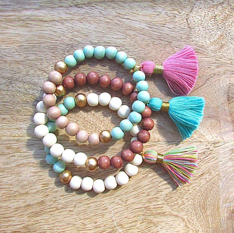 41+ Wooden bead bracelet with tassel inspirations