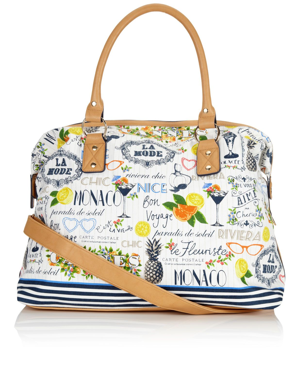 Riviera Weekender Bag | Multi | Accessorize | Fabric | Pouch ...