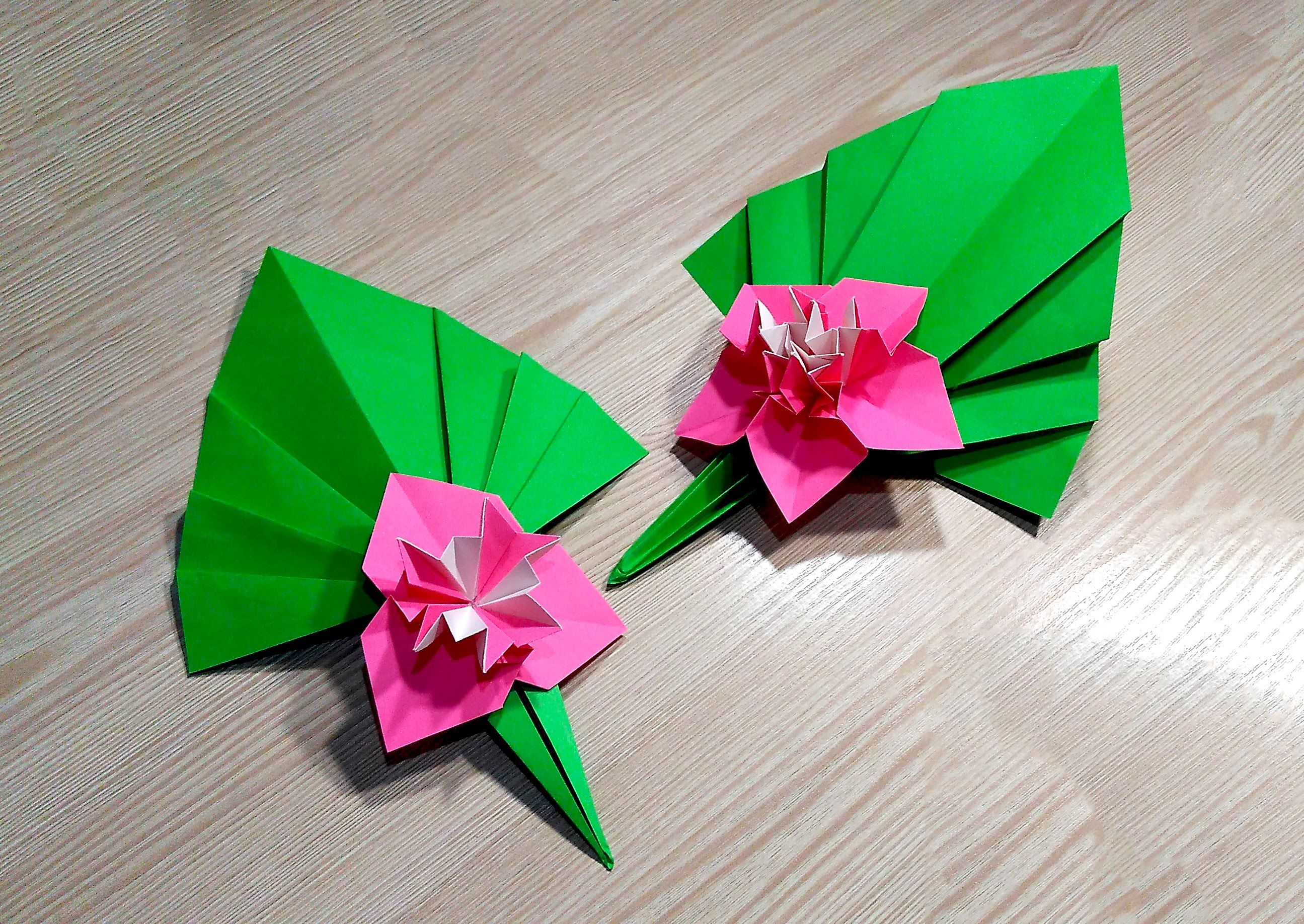 Easy Paper Origami Flower Romeondinez