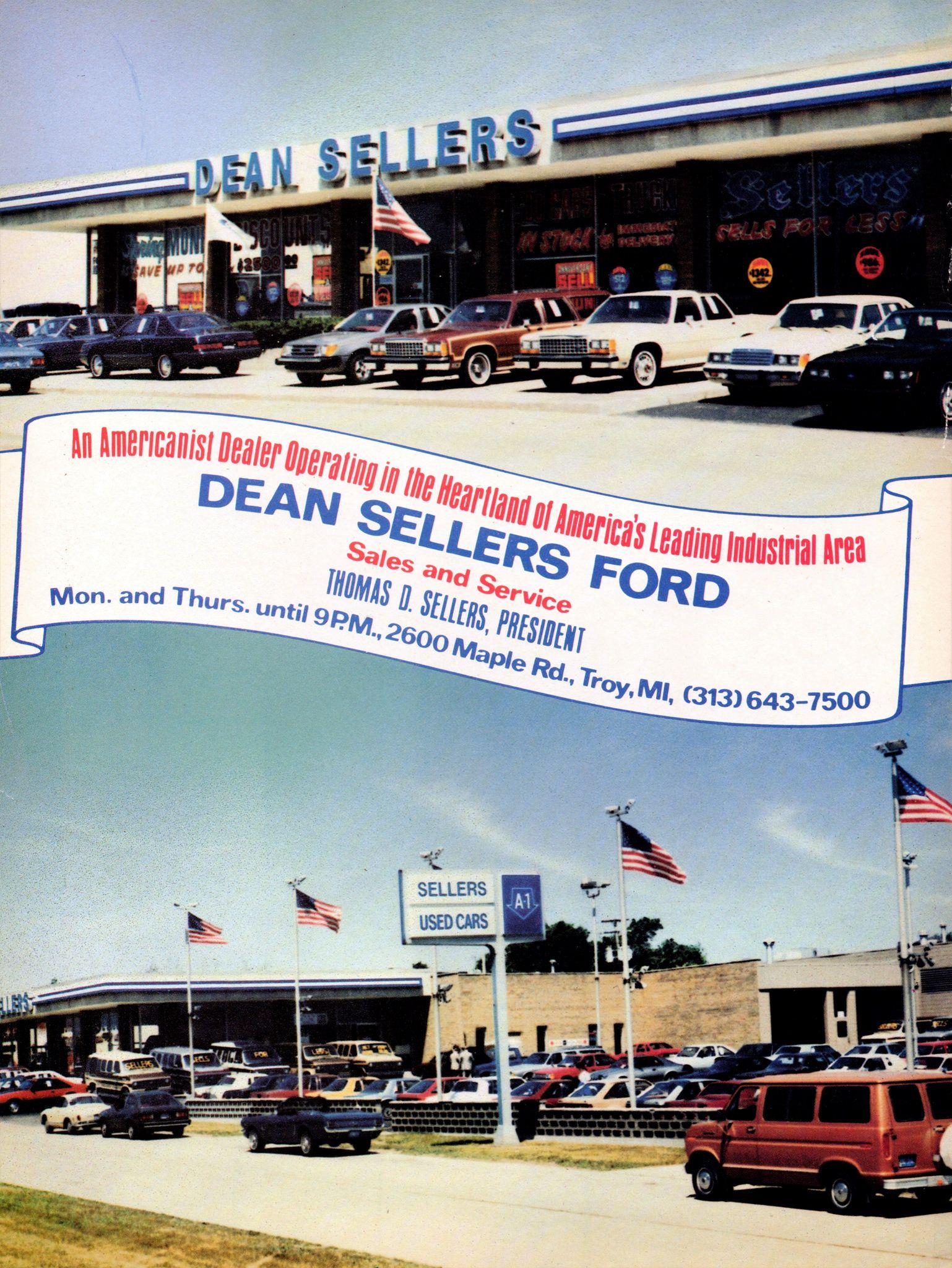 1986 Dean Sellers Ford Dealership Troy Michigan Car Dealership