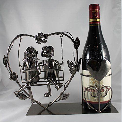 Schaukel Flaschenhalter Liebespaar Liebesschaukel Hochzeit Geschenk