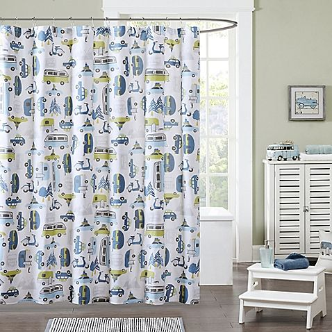 Travel To The Destination Of Your Dreams With The Ink Ivy Kids Road Trip Shower Curtain T Printed Shower Curtain Colorful Shower Curtain Cotton Shower Curtain