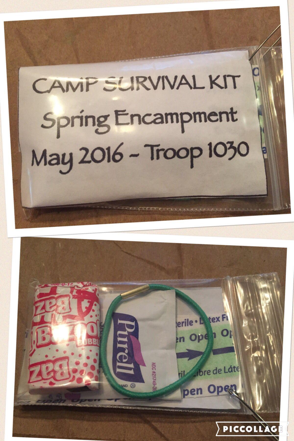 Camp Survival Kit Swap