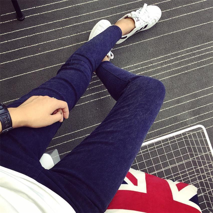 2016 Women Jeans Leggings Skinny Slim Thin High Elastic Waist Washed Jeans Jeggings Pencil Pants Denim Leggings For Women