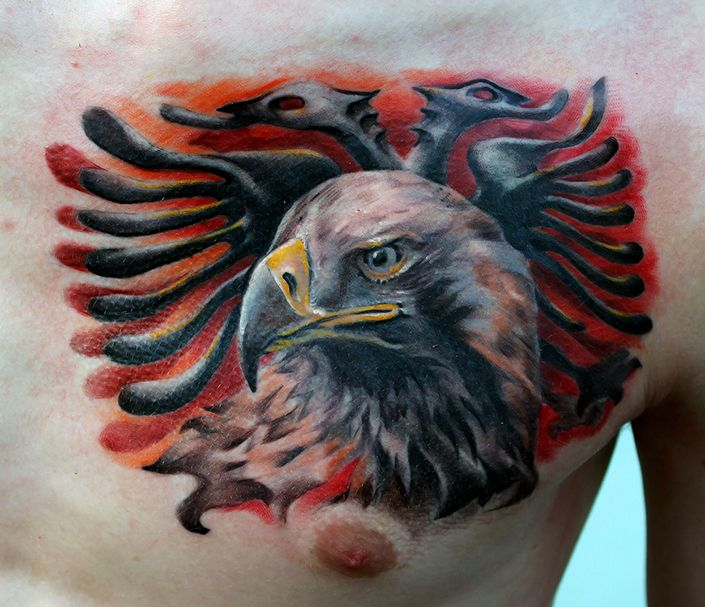 albanian eagle tattoo done by poppay tattoo studio tattoos pinterest eagle tattoos tattoo. Black Bedroom Furniture Sets. Home Design Ideas
