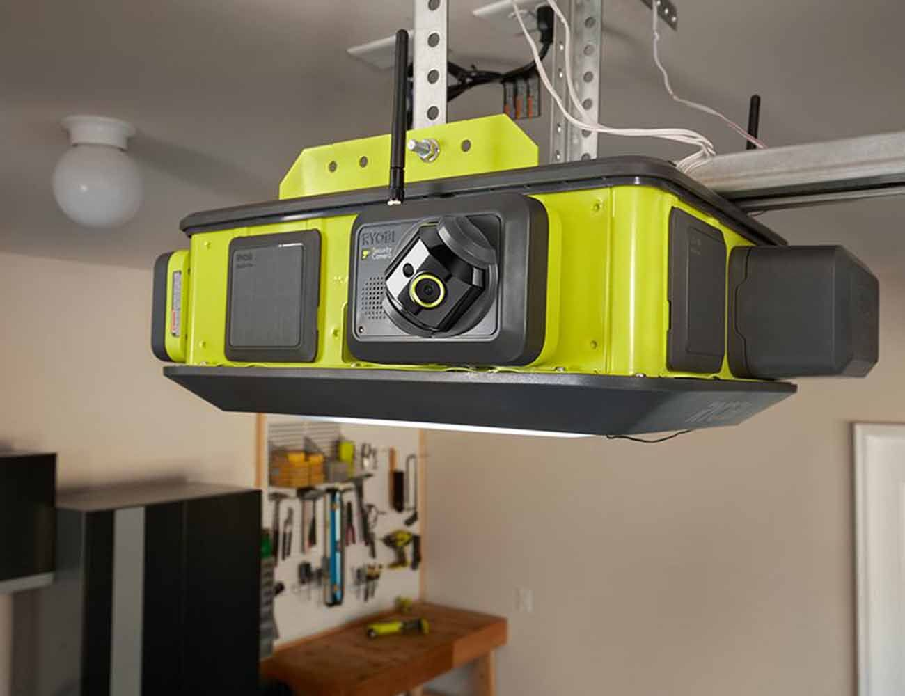 Ryobi Ultra Quiet Garage Door Opener Quiet Garage Door Opener Garage Door Colors Garage Doors
