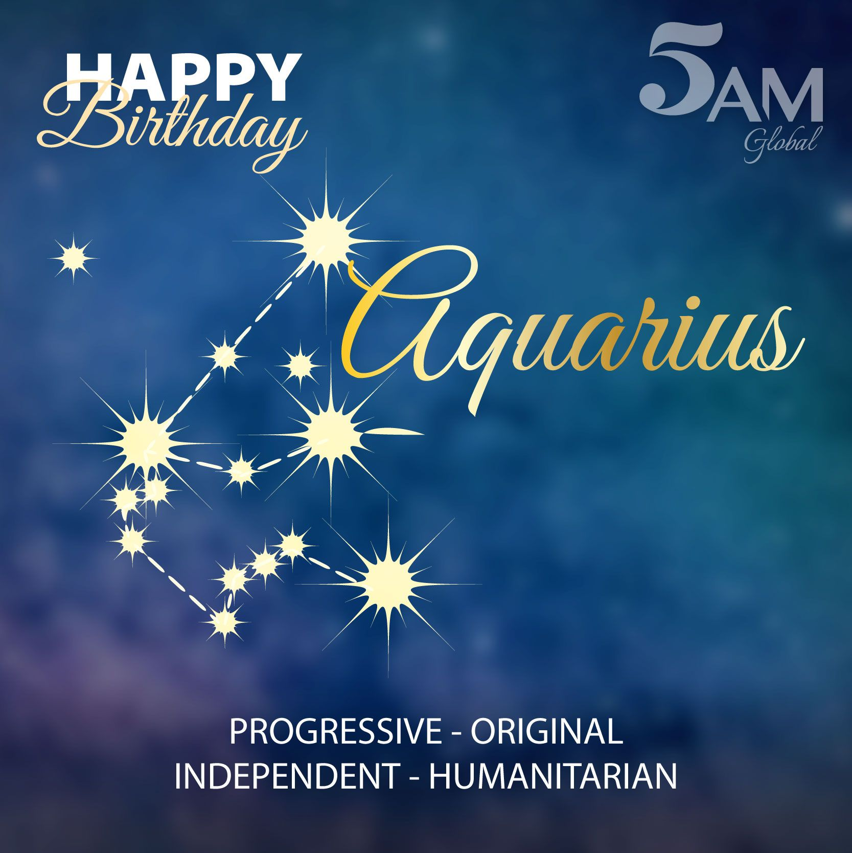#HappyBirthday, Aquarius! Are You Known To Be Free