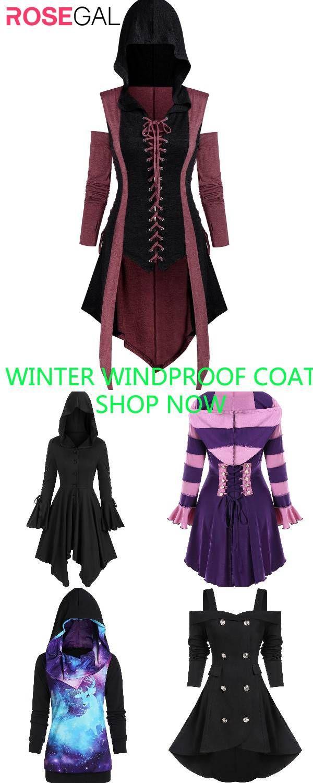 Photo of Rosegal women Hooded Coat Windproof coat ideas Warm winter c…