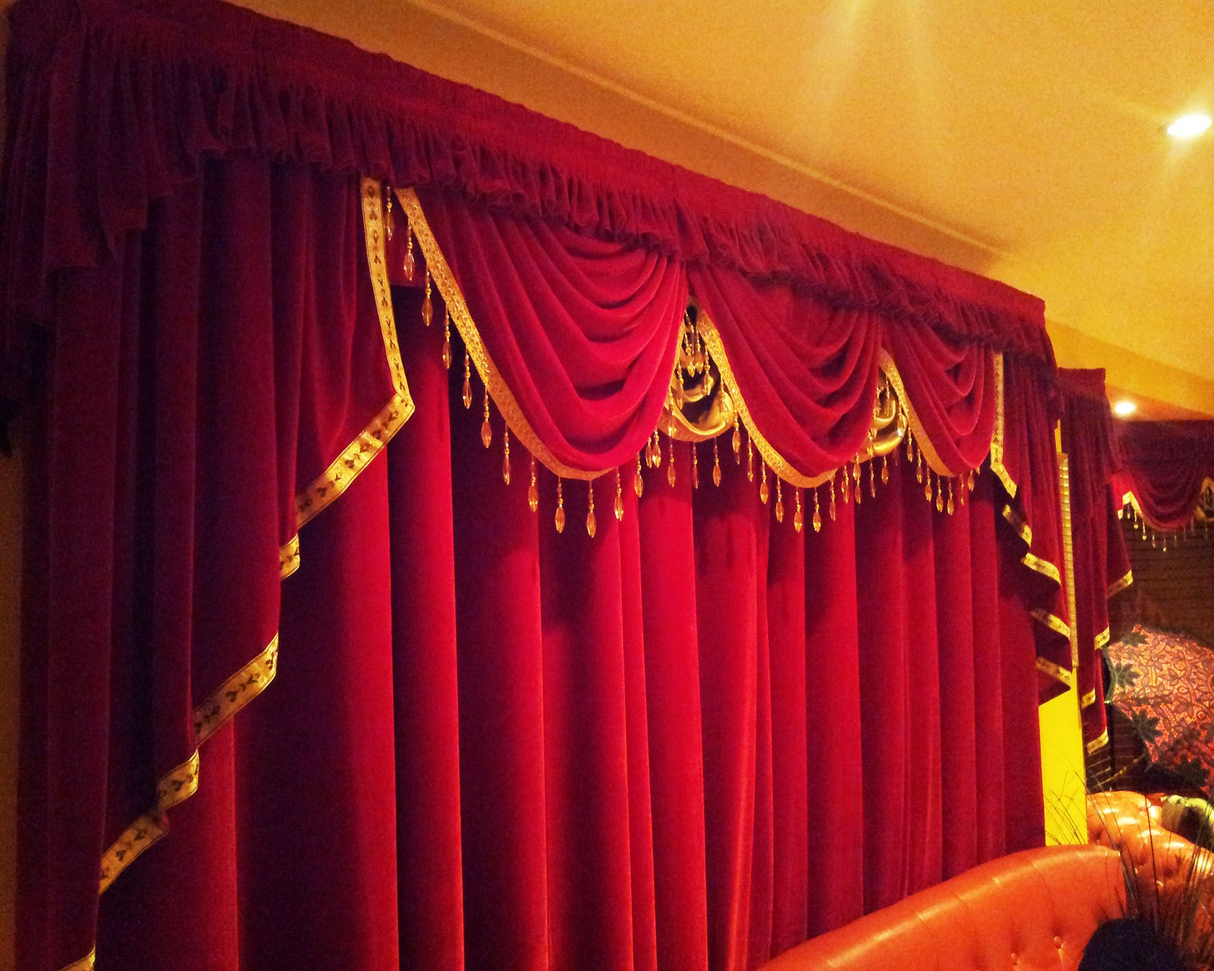 An close up of what your next Stage Curtain might look like ...