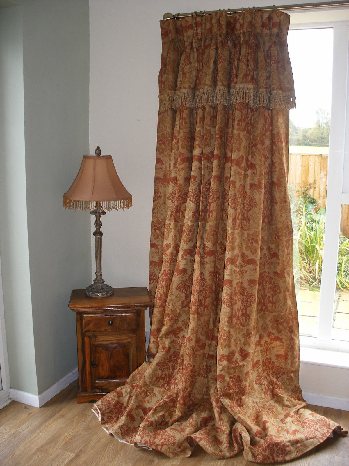 Massive Blanket lined, Country House Curtains, 98 L, Goblet Head, Vintage in…