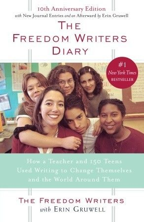 The Freedom Writers' Diary with Erin Gruwell. A remarkable teacher who taught tolerance and optimism. Remarkable students who overcame adveristy. Read a review at http://readinginthegarden.blogspot.com/2013/04/the-freedom-writers-diary-with-erin.html