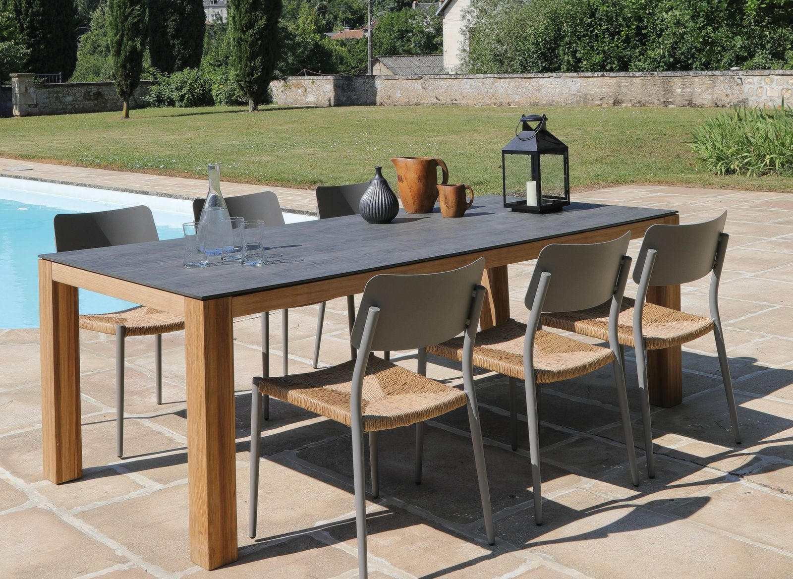 Table Asola 210 cm, plateau Trespa® | Table de jardin 2019 ...