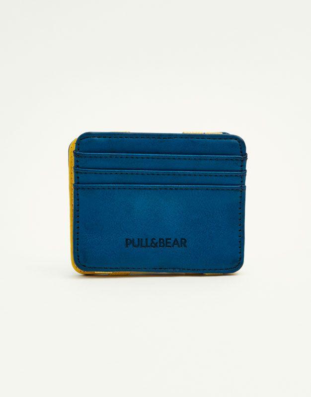 acc0d3c509e4 Pull&Bear - man - accessories - wallets - magic wallet - blue -  09813525-I2017