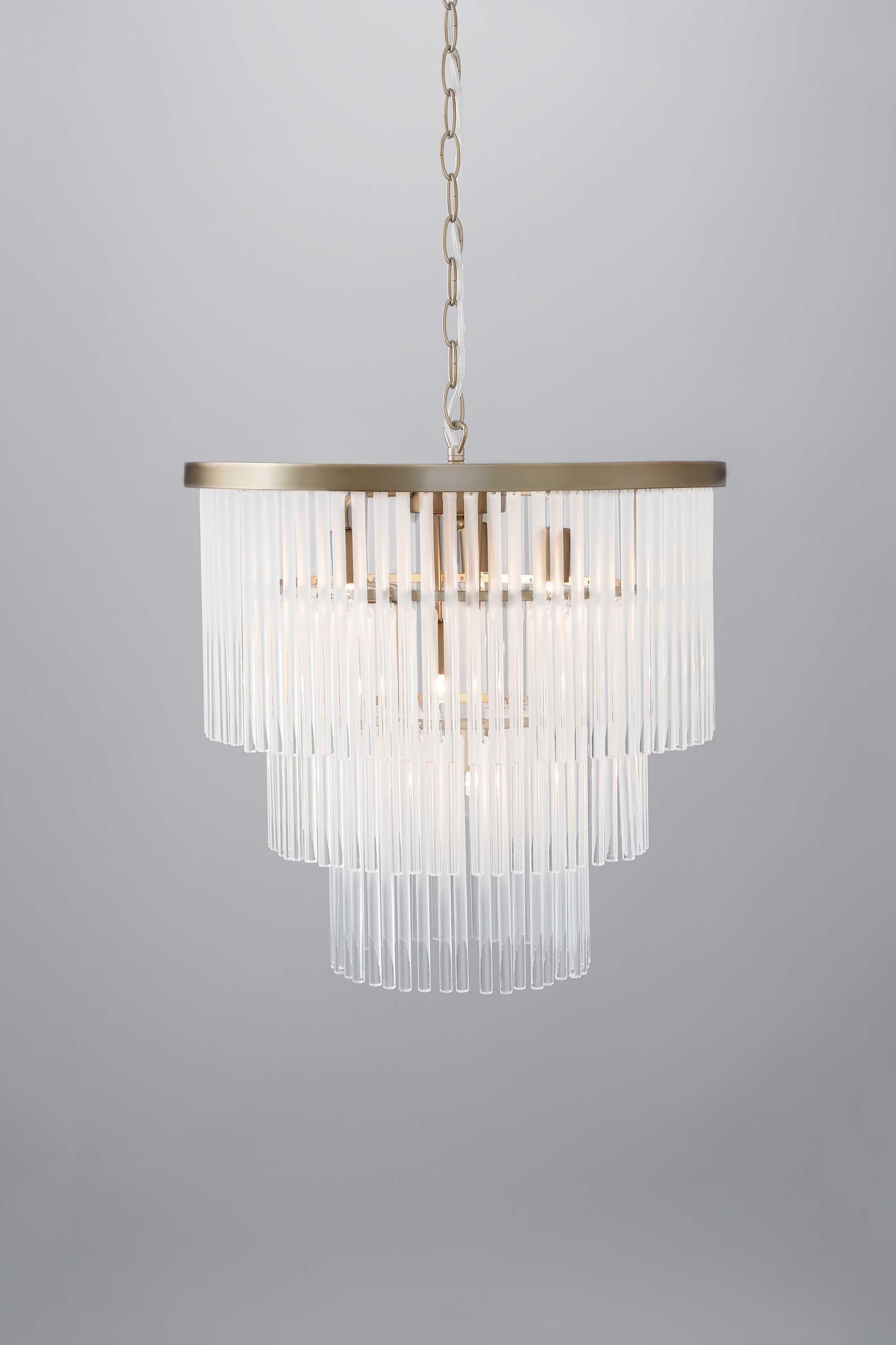 Aubrey Frosted Glass 5 Light Pendant BHS hallway
