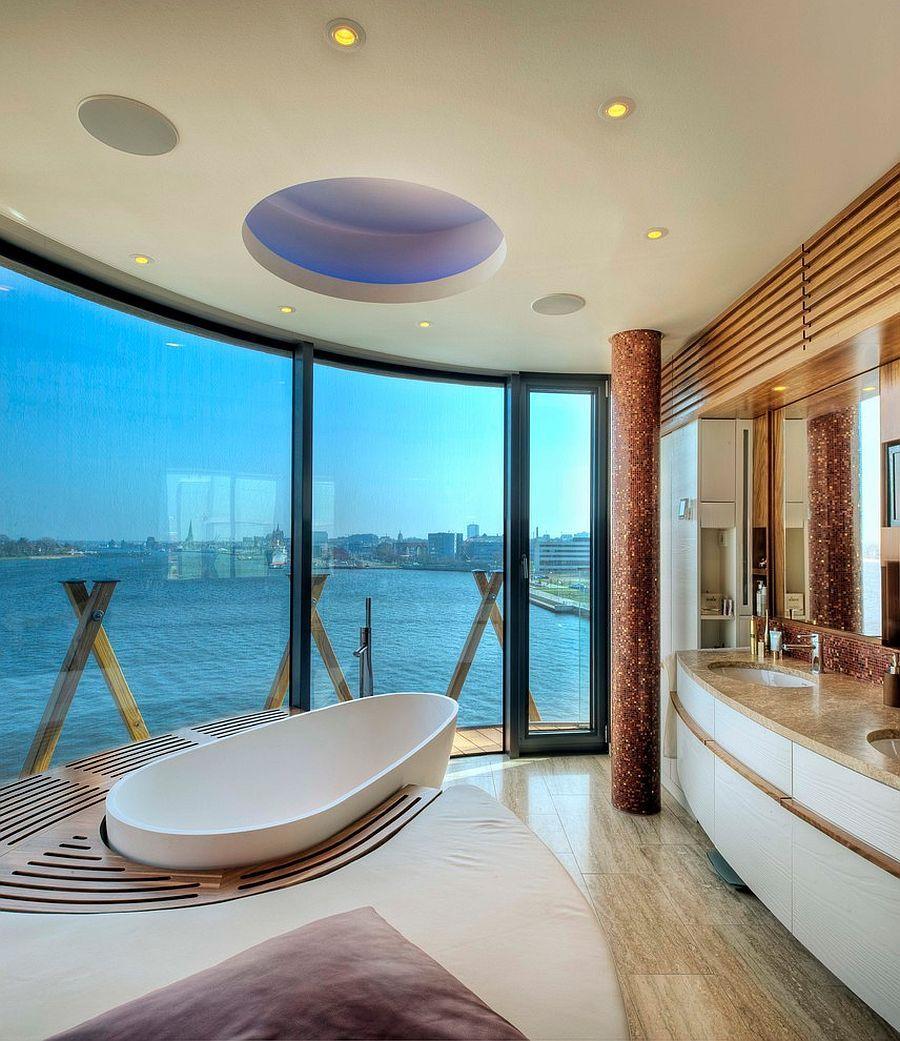 20 Luxurious Bathrooms With A Scenic View Of The Ocean Unique Bathroom Design Luxury Bathroom Unique Bathroom