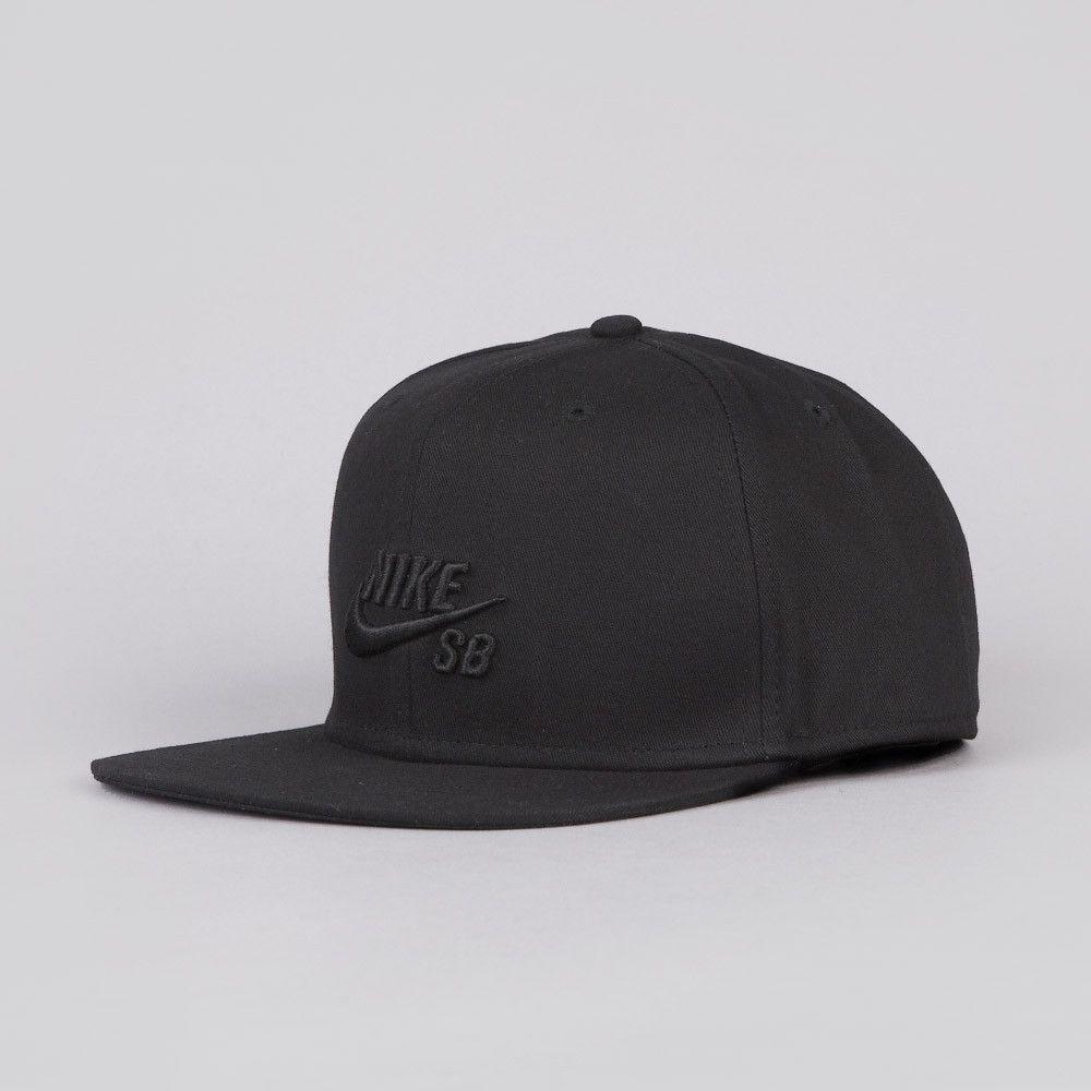 901247d9554 Nike SB Icon Snapback Cap Black   Black
