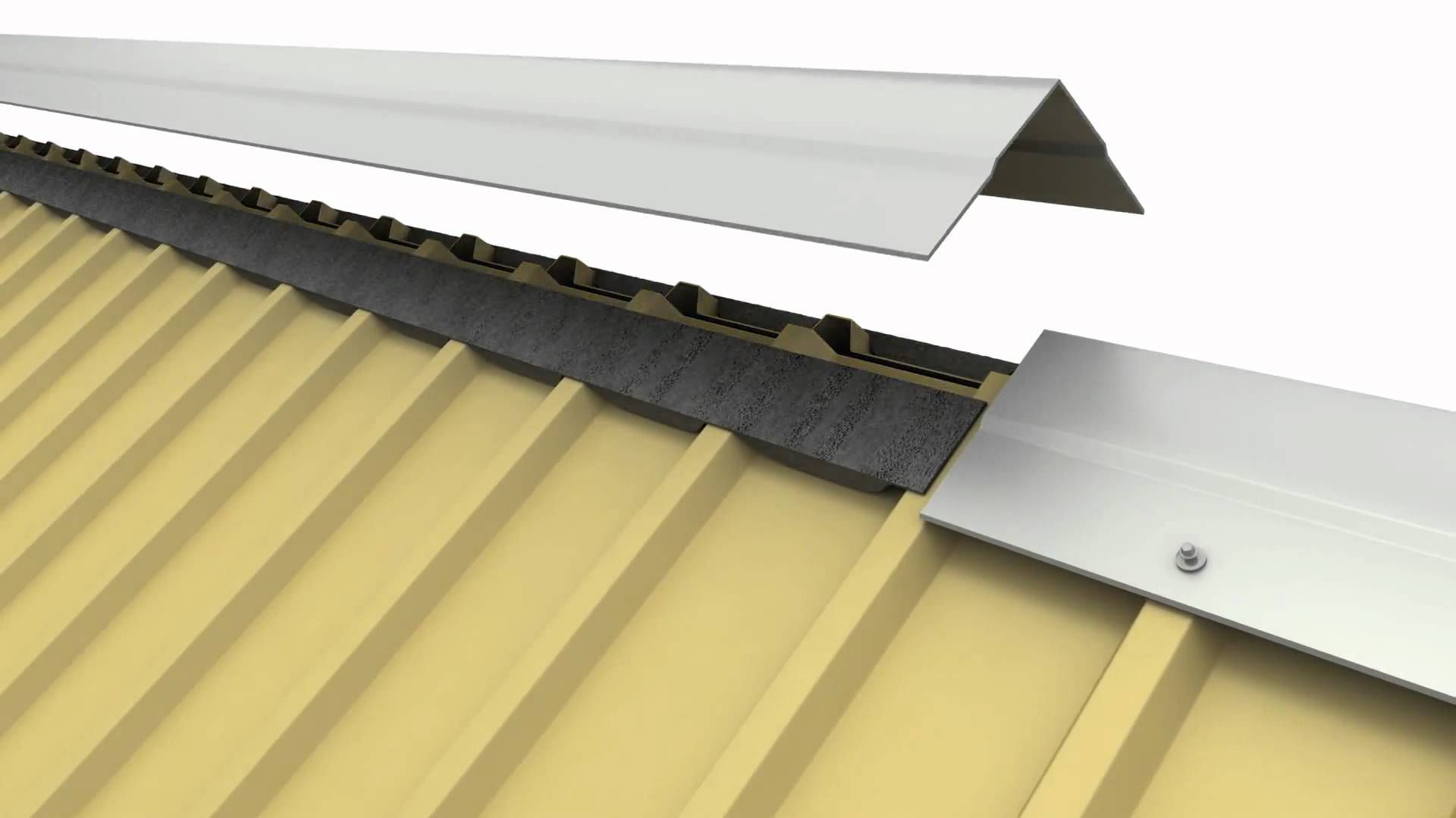 Install Roof Ridge Capping Prevent Your House This Winter Roofdoctors Metal Roof Metal Roof Vents Roof Installation