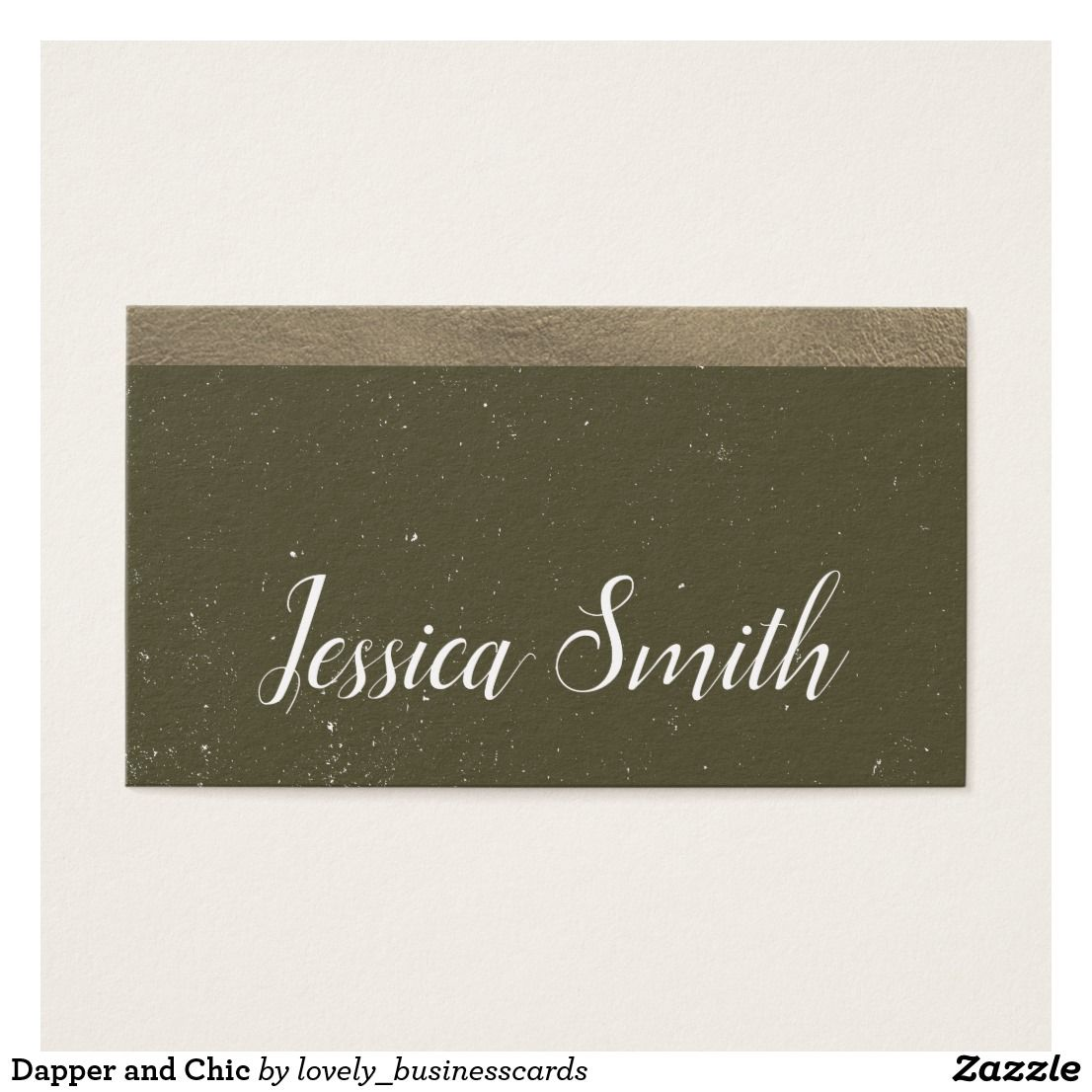 Dapper And Chic Business Card Business Cards And Business