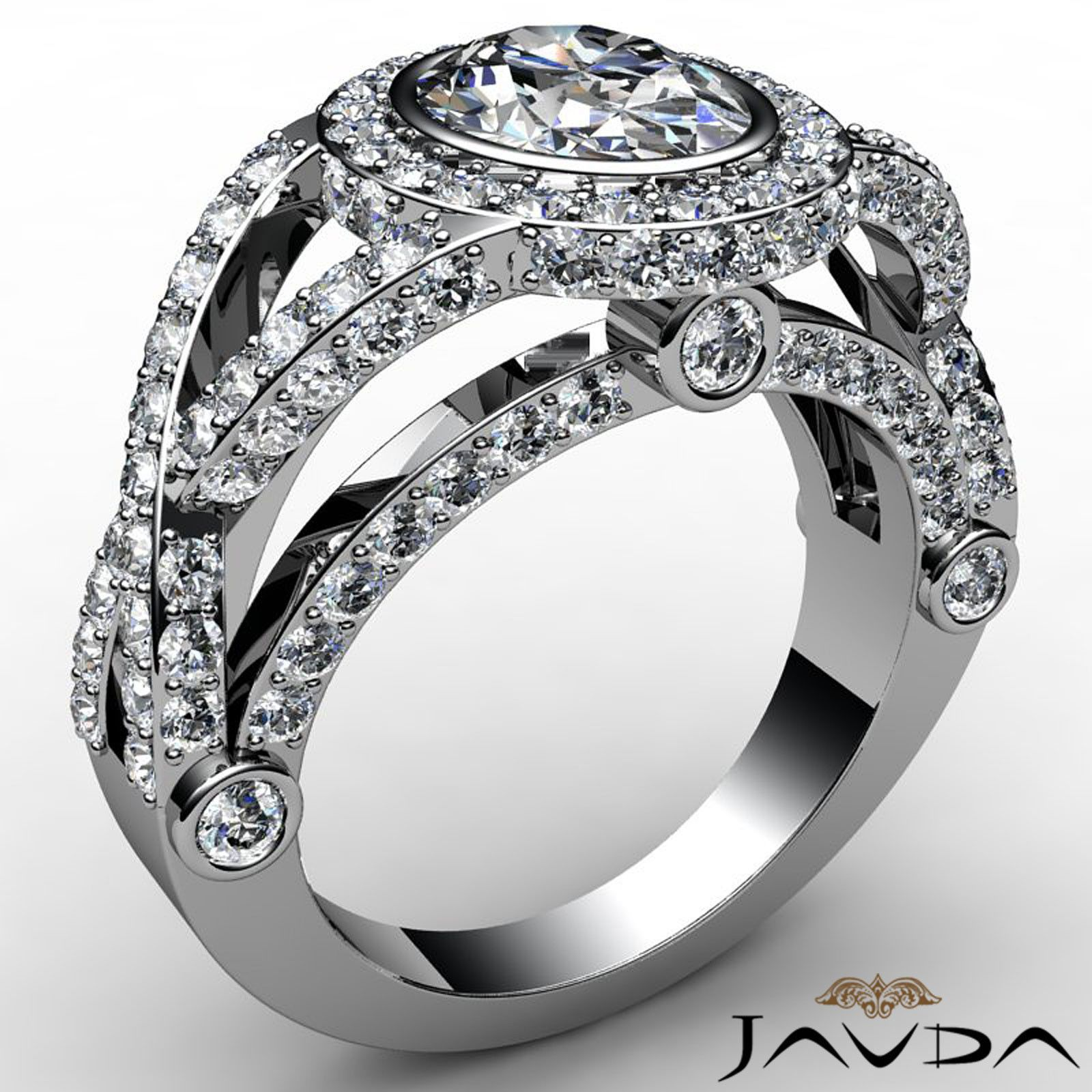 Twist shank oval diamond designer pave engagement ring gia g si