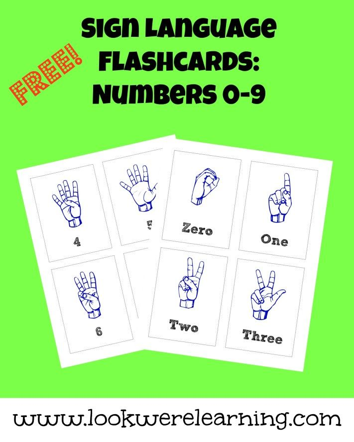 Free Printable Flashcards Asl Number Flashcards With Images