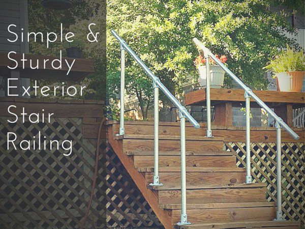 See How People Just Like You Installed Their Own Exterior Stair Railing  With Our Simple Rail Part 45