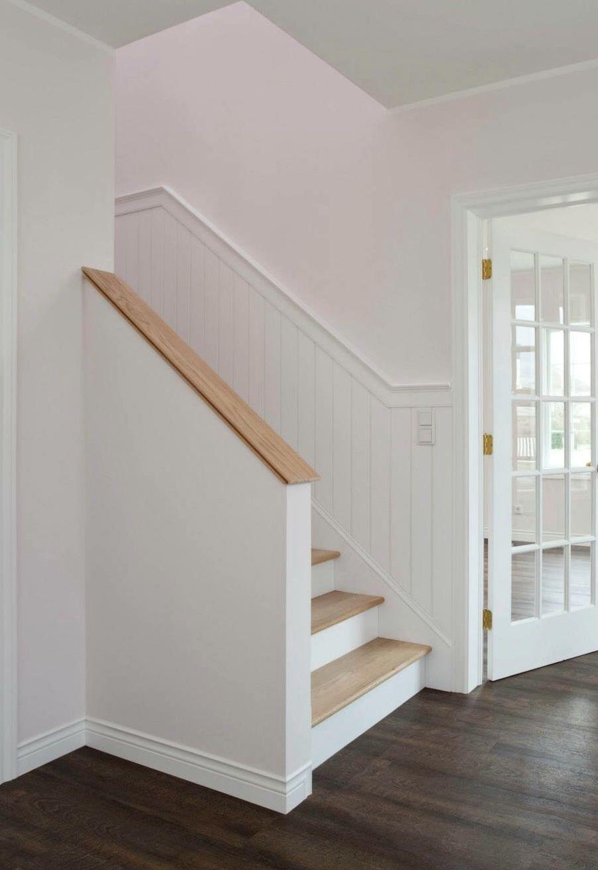 Beadboard Deutschland Wieusa Holztreppen Traumhaus Usa Wandpaneele Holzpaneele Wandverkleidung Treppenver Treppenverkleidung Holztreppe Holzpaneele