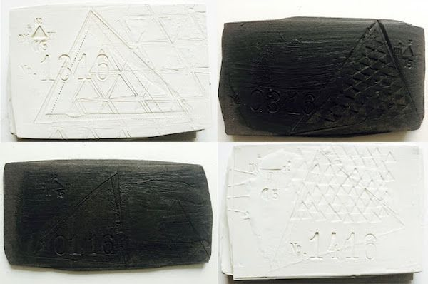 Project Triangle   Black and White ceramics by Dietlind Wolf