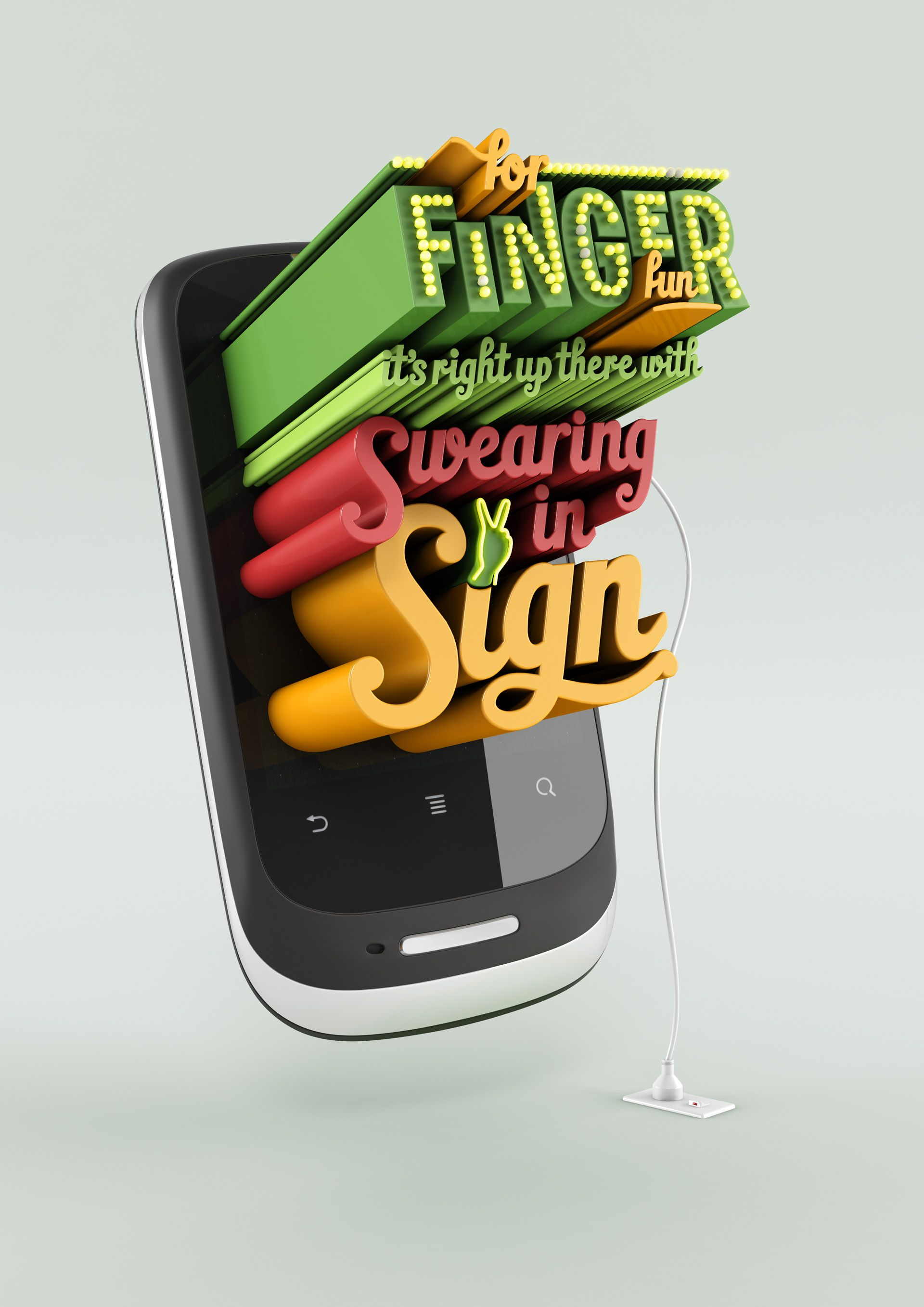 Poster design 3d - Huawei Advertising Campaign 3d Typography Mobile Phones Animation Poster