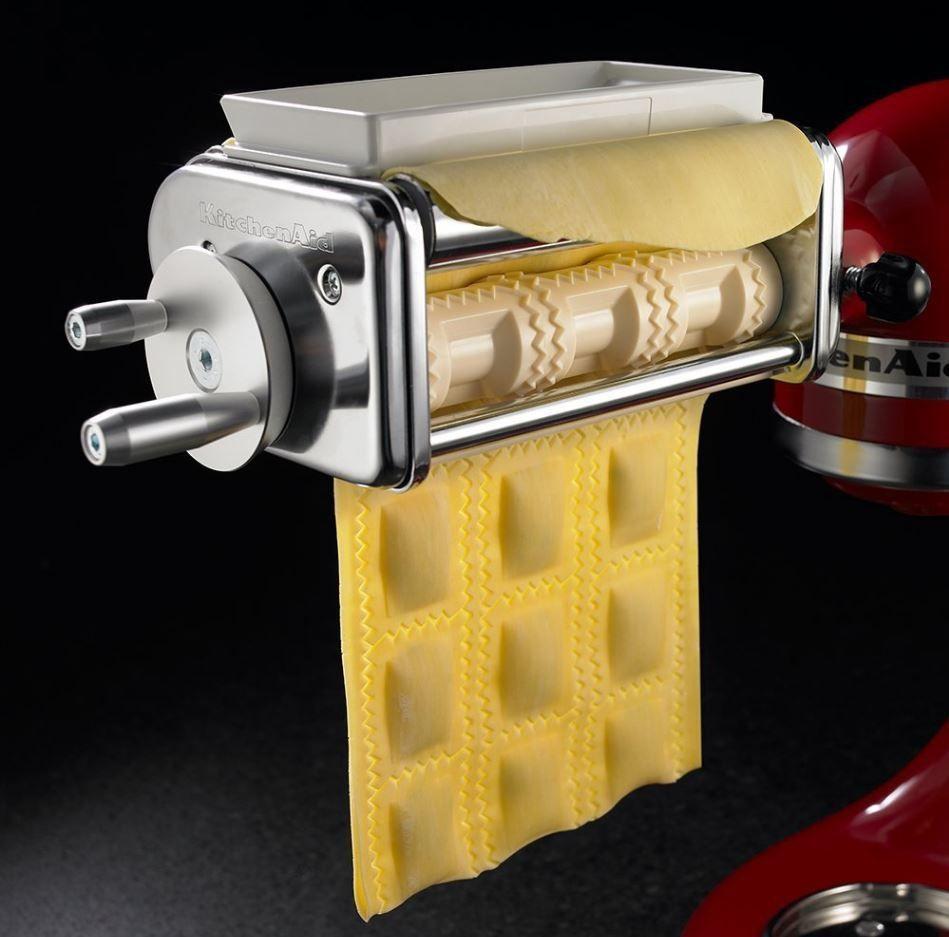Kitchenaid Krav Ravioli Maker With 6-Inch-Wide Rollers for 3 Rows of Large-Pocke #KitchenAid